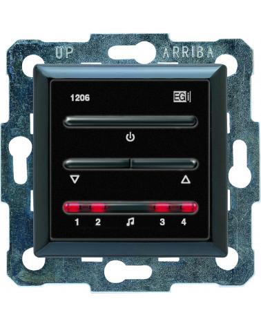 1206.12 Teclado control digital para amplificadores negro