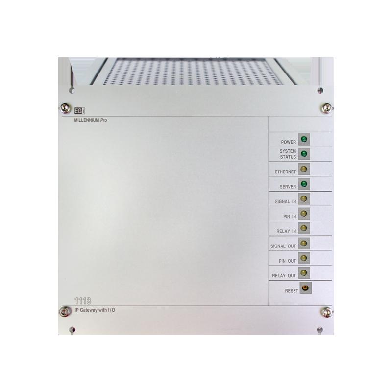 Interfaz IP para gestión de mensajes/música pregrabados con 8 relés IN/OUT